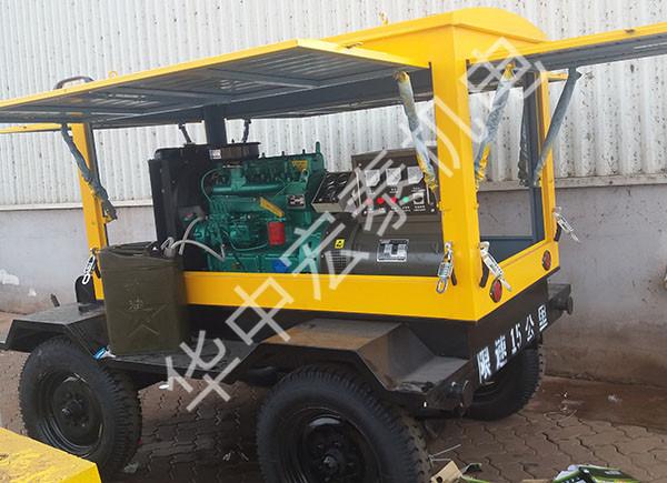 供给河北某工程30KW移动电站到货调试