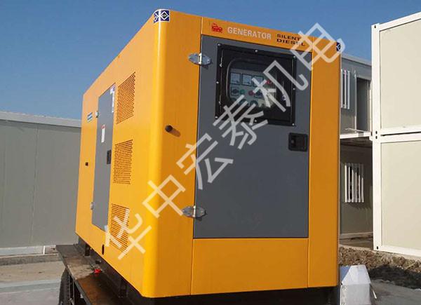 供给天津某工程100KW移动静音电站